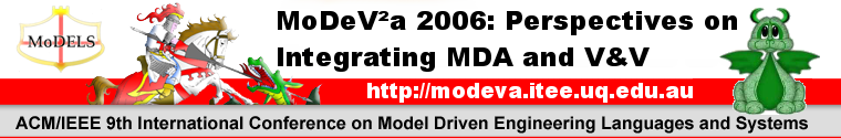 MoDeV²a 2006: Perspectives on integrating MDA and V&V - 